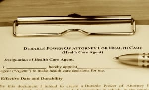 A Health Care Power of Attorney that direct your health care when you cannot do so yourself.