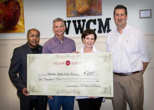 Wilson, Reives & Silverman Donates $2,000 To Western Wake Crisis Ministries Following Apex Peakfest